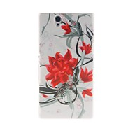 Kinston Flowers Bloom Pattern Plastic Hard Case for Sony L36h(Xperia Z)