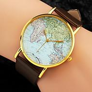 ieftine Ceasuri La Modă-Pentru femei femei Ceas de Mână Quartz World Map Pattern PU Bandă Analog Charm Modă Negru / Alb / Maro - Alb Negru Maro Un an Durată de Viaţă Baterie / Jinli 377