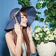 Manera de las mujeres ahueca hacia fuera el bowknot cinta sombrero flojo