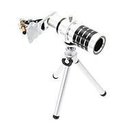 voordelige Smartphone Fotografie-Universal Zoom 12X Tele Aluminium Mobiel Lens met statief