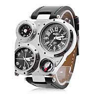 Oulm Муж. Армейские часы Наручные часы Кварцевый Японский кварц С двумя часовыми поясами PU Группа Черный
