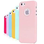 abordables Liquidación-Funda Para iPhone 5 Apple Funda iPhone 5 En Relieve Funda Trasera Color sólido Dura ordenador personal para iPhone SE/5s iPhone 5