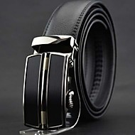 billige Bælter til herrer-Herre Kontor Afslappet Bredt bælte - Læder Ensfarvet