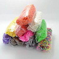 DIY Twistz Silicone Bandz Rubber Bands Bracelets Rainbow Color Loom Style for Kids with 600pcs Bands and 24 S-clips