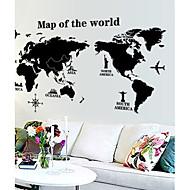 preiswerte -Wand-Sticker Karte Wandaufkleber Dekorative Wand Sticker, Vinyl Haus Dekoration Wandtattoo Wand