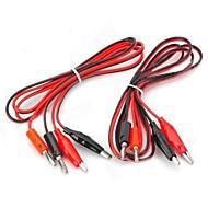 お買い得  Arduino 用アクセサリー-ワニ口クリップテストプローブケーブルにバナナプラグ - 赤+黒(2個/ 1.2メートル)