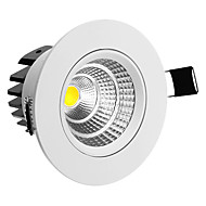 abordables Luces LED Empotradas-Luces de Techo Regulable 5 W COB 50-350 LM 3000 K Blanco Cálido AC 100-240 V