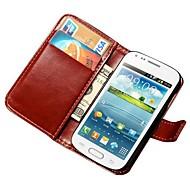 Для Кейс для  Samsung Galaxy Кошелек / Бумажник для карт / со стендом / Флип Кейс для Чехол Кейс для Один цвет Искусственная кожа Samsung