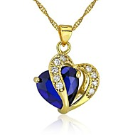 Golden Pendant Necklaces Gold Plated Wedding / Party / Daily Jewelry