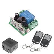 voordelige DHZ-onderdelen-12V 1-kanaals draadloze afstandsbediening Vermogensrelaismodule met Double Remote Controller (DC28V-AC250V)