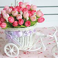 """9.2 """"h gül tomurcuk bisiklet tasarım sepeti yapay çiçekler ev dekorasyon"""
