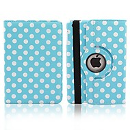 Round Dots Rotatable PU Full Body Case with Stand for iPad Air (Assorted Colors)