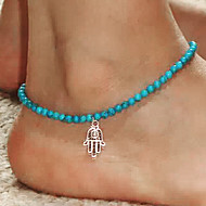 cheap -Anklet Hamsa Hand Resin Fashion Anklet Green Jewelry For Party Daily Casual