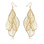 Women's Drop Earrings Hollow Elegant Long European Statement Jewelry Costume Jewelry Alloy Leaf Jewelry For Wedding Party Daily Casual