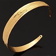 halpa -Naisten Rannekkeet Avoin Säädettävä Platinum Plated Gold Plated Korut Joululahjat Häät Party Päivittäin Kausaliteetti Urheilu Pukukorut