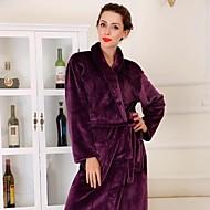 Bath Robe Purpurowy,Stały Wysoka jakość 100% Coral Fleece Ręcznik