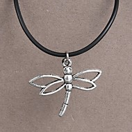 Fashion Stainless Steel Dragonfly Pendant Necklace