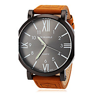 Недорогие Фирменные часы-JUBAOLI Муж. Наручные часы Кварцевый Повседневные часы Кожа Группа Кулоны Коричневый