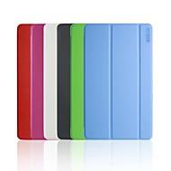 Для Кейс для  Samsung Galaxy со стендом / Флип / Оригами Кейс для Чехол Кейс для Один цвет Искусственная кожа Samsung Tab S 8.4