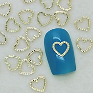 200db egyedi design szív csipke arany fém szelet nail art dekoráció