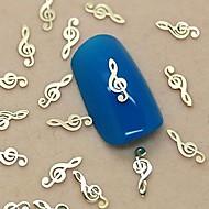 200db zenei hang tervezés arany fém szelet nail art dekoráció