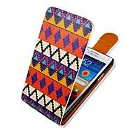 Недорогие Чехлы и кейсы для Galaxy S2-Кейс для Назначение SSamsung Galaxy Кейс для  Samsung Galaxy Флип С узором Чехол Полосы / волосы Кожа PU для S2