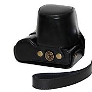 cuero de la cámara pajiatu pu bolsa estuche protector cubrir con correa para el hombro para GX7 DMC-GX7