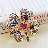 Kadın's Broşlar - Kristal, Kübik Zirconia Bayan, Parti, Moda Broş Mücevher Beyaz / Gökküşağı Uyumluluk Düğün / Parti / Özel Anlar / Yıldönümü / Doğumgünü / Hediye