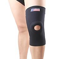 preiswerte -Kniebandage Sport unterstützen Schützend Atmungsaktiv Lindert Schmerzen Fitness Laufen Schwarz