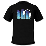 cheap LED T-shirts-LED T-shirts Sound activated LED lights Textile Cartoon 2 AAA Batteries