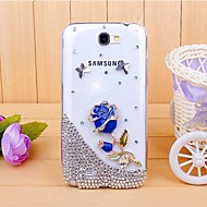 Для Samsung Galaxy Note Стразы / Прозрачный / С узором Кейс для Задняя крышка Кейс для 3D в мультяшном стиле PC Samsung Note 2