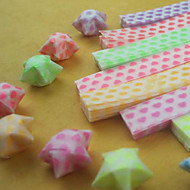 fénylő csillag origami anyagok (27 db / zsák)