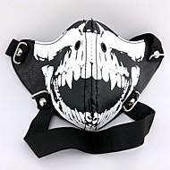 halpa Cosplay-Mask Innoittamana Tokio Ghoul Cosplay Anime Cosplay-Tarvikkeet Mask Musta PU-nahka Uros