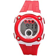 abordables Relojes para Chica-Mujer Reloj digital Cuarzo Digital 50 m PU Banda Digital Blanco / Azul / Rojo - Rojo Verde Azul