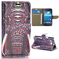 слон шаблон шт магнитного флип стенд + кожаный чехол ПУ для Samsung Galaxy ядра плюс g3502u