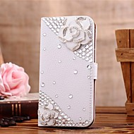 cheap Cases / Covers for Samsung-Case For Samsung Galaxy Samsung Galaxy Case Card Holder Rhinestone with Stand Flip Pattern Full Body Cases 3D Cartoon PU Leather for S7