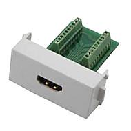 n86-600k 여성의 HDMI V1.4 어댑터 무료 용접 모듈 소켓 벽 패널 지원 차원 - 녹색 + 흰색