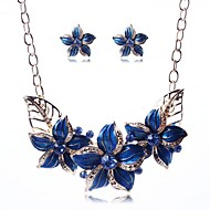 Недорогие Украшения в цветочном стиле-Бижутерия-Ожерелья / Серьги(Сплав)Для вечеринок Свадебные подарки