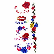 многоцветный - Тату с цветами - Временные тату - для Женский/Girl/Взрослый/Подростки - #(1) - #(18.5*8.5) - С рисунком/Waterproof - Бумага
