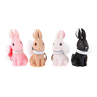 Key Chain Toys Key Chain Rabbit ABS Cartoon 4 Pieces Christmas Birthday Children's Day Gift