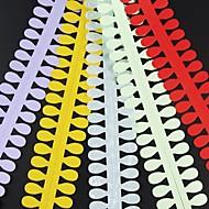 Недорогие -5шт 3,5 см х 51 см овальной формы лепесток рюш цветок набор бумаги творческий поделки оригами бумаги прокатки