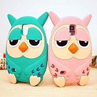 Roumang Heirs Cartoon 3D Owl Silicone Case for Samsung S5 I9600