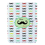 Colored Beard Design PU Leather Full Body Case with Stand for iPad 2/3/4