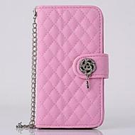お買い得  HHMM-HHMM Diamond Flowers Can Insert Card PU Leather Cases with Stand  for iPhone 6 plus Case 5.5 inch(Assorted Colors)