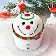verjaardagscadeau Kerstmissneeuwman vorm fiber creatieve handdoek (willekeurige kleur)