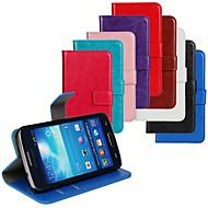 お買い得  Samsung 用 ケース/カバー-ケース 用途 Samsung Galaxy Samsung Galaxy ケース カードホルダー スタンド付き フリップ フルボディーケース 純色 PUレザー のために Express 2