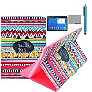Коко fun® красный племенной узор ковра Дело PU кожаный флип стенд с пленкой и стилус для Samsung Galaxy Tab 4 10,1 T530