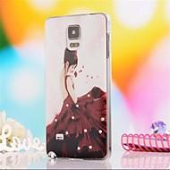 Недорогие Чехлы и кейсы для Galaxy Note-Кейс для Назначение SSamsung Galaxy Samsung Galaxy Note Стразы С узором Кейс на заднюю панель Соблазнительная девушка ПК для Note 4
