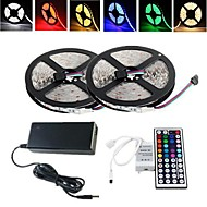 Flexible LED Light Strips Light Sets RGB Strip Lights AC100-240 10 leds RGB
