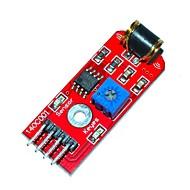 お買い得  Arduino 用アクセサリー-キーズ801S振動センサモジュール - 赤(直流3〜5V)